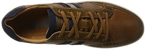Sneaker Uomo Australiano In Pelle Lombardo Multicolore (tan-navy)