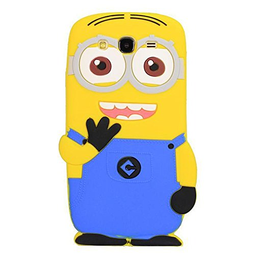 Double Eye Cute Despicable Me Minion Silicone Back Cover For Samsung Mega 5.8 I 9150  available at amazon for Rs.499