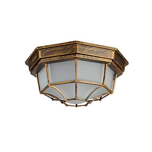 TopDeng Wasserdicht Deckenleuchte Retro, Metall-käfig Deckenlampe Badezimmer LED 5w Im freien Treppen Bar Corrider-Warmes Licht-E 23x11cm (Warmes Licht Im Bad)