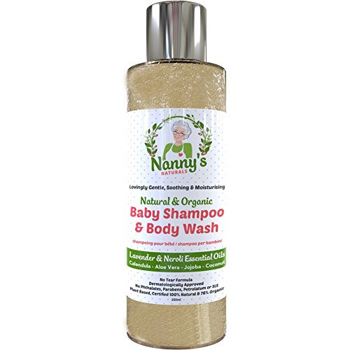 All Natural & Organic Baby Shampoo and Body Wash | Lavender & Neroli | 100% Natural & 76% Organic Soap for Babies & Children