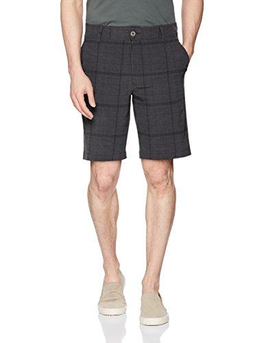 Belted Plaid Jeans (Lee Herren Performance Series Tri-Flex Legere Shorts, Charcoal Plaid, 46)