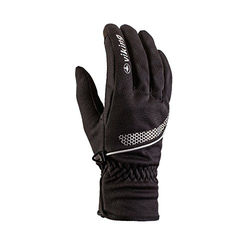 Viking Multifunktions Handschuhe Damen und Herren - mit WINDLOCKER Membrane - ideal für Langlauf, Radsport, Wandern, Eislaufen - Shiro, 09 schwarz, 9