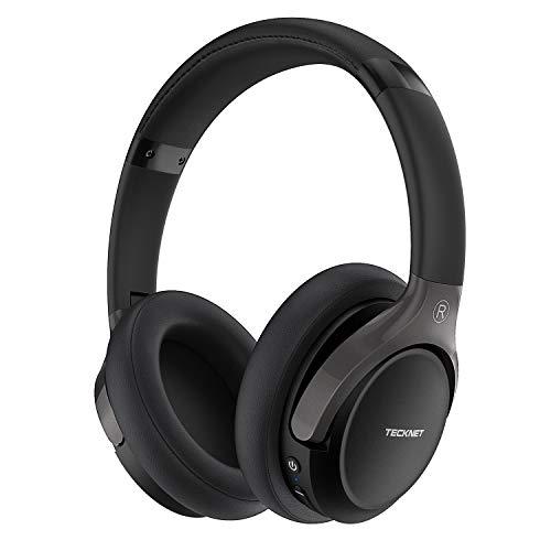 Casque Bluetooth sans Fil, Tecknet Casque Audio Stéréo Hi-FI Oreillette Bluetooth 5.0 avec 16 Heurs de Lecture, Cache-Oreilles Confortable et Son Haute Fidélité pour iPhone/Android/Tablettes/PC