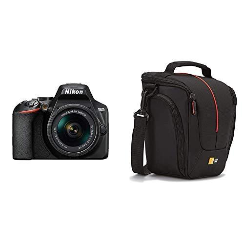 Nikon Kit Reflex numérique D3500 + AF-P DX 18-55 f/3.5-5.G VR Noir & Case Logic DCB306 Housse en nylon pour appareil photo réflex Noir