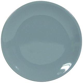 Novastyl 8010418 Ibiza Lot de 6 Assiettes Faïence Gris/Anthracite 20,2 x 20,2 x 2,20 cm
