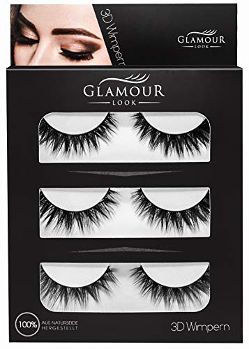 GlamourLookTM 3D Wimpern | ZEITLICH BEGRENZTES ANGEBOT statt 9,90€ | natürlich voluminöse Wimpern | wiederwendbar | leicht & bequem -