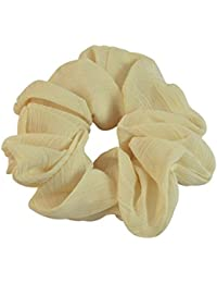 Sarah Off White Soft Fabric Hair Rubber Band For Ponytail Big Rubber Band Hair Accessories
