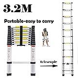 Mehrzweck-Aluminium-Teleskop-Leiter, 11Stufen, zusammenklappbar, 3,2m-Design