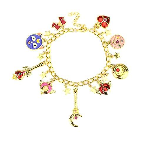 Bellenne Sailor Moon Armbänder Schmuck mit Vielen Kleinen Anhängern