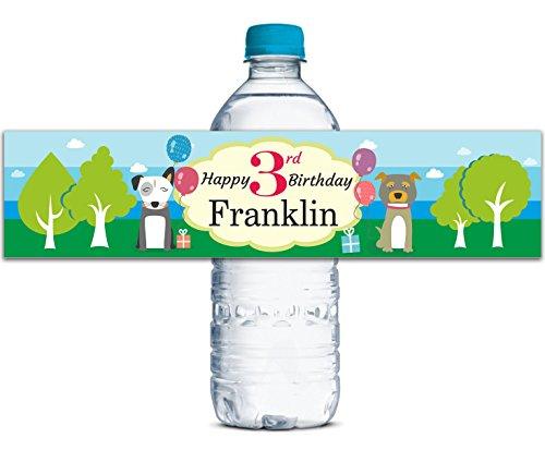 Bottiglia di acqua impermeabile etichette festa di compleanno per bambini adesivi personalizzati adesivo 8