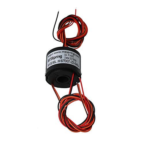 CNBTR 22mm Dia 7mm Loch Dia 4 Kabel Stromleiter Schaltungen Durch Loch Ring 220 V AC / DC 1,5A Power Collector Ring