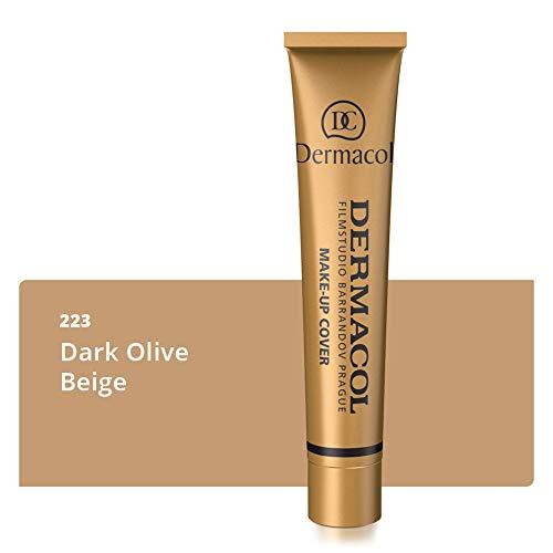 Dermacol Deckendes Make-up Cover für Gesicht und Hals - Wasserfeste Foundation mit LSF 30 für einen makellosen Teint - 223, 30g