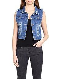 more photos 845b2 4ab2f Amazon.it: giacca di jeans con perle - Donna: Abbigliamento