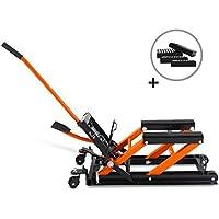 Bequille d'Atelier Cric Moto Hydraulique Lift ConStands L noir-orange incl. 4 blocs de caoutchouc