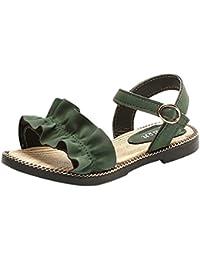 f60c66bdfe7c2 Princesse Volanté Chaussures Sandales Rawdah Été Enfants Infantile Enfants  Filles Wave Ruffles Princesse Sandales Souliers (