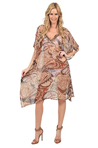 Ingear Embellished Beaded Poncho Cover Up (Cover Up Embellished)