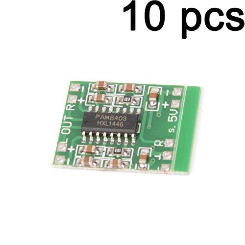 Gaoxing Tech. 10PCS Digital DC 5V Verstärker Brett Klasse D 2 * 3W USB Energie Mini PAM8403 Audiomodul