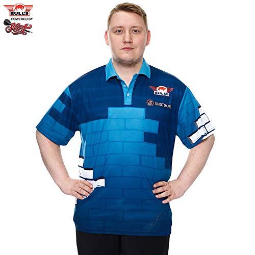 BULL´S Darts Martin Schindler The Wall Matchshirt Dart Shirt Trikot Design 2019 Dart Trikot Dart Shirt (M)