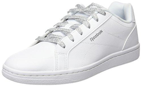 Reebok Royal Complete Cln, Scarpe da Fitness Donna Bianco (White / Silvet Metallic)