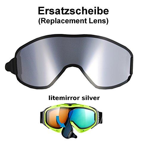 uvex g.gl. 300 & uvision TO off ess Ersatzscheibe für Skibrille als take off - single lens litemirror silber
