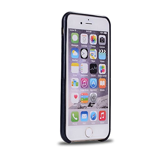 """HYAIT® For IPHONE 6 PLUS 5.5"""" Case[PU][Credit Card Slots] Dual Layer Hybrid Armor Rugged Plastic Hard Shell Flexible TPU Bumper Protective Cover-PUE02 BHE01"""
