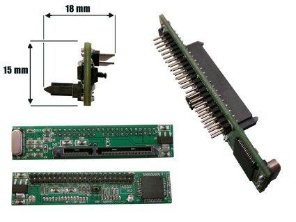 CABLING® Adaptateur convertisseur PLAT - SATA 2.5 vers IDE 2.5 44 pins - Pour remplacer un disque dur IDE de portable par un disque dur SATA.