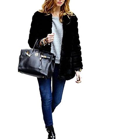 VLUNT femmes Faux Fur Vest Gilet Shaggy Gilet Cheveux longs Vest Veste sans manches Outwear Gilet