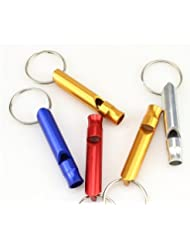 Mountain Survival Emergency Whistle Aluminum Key Chain Safety Outdoor by Baakyeek