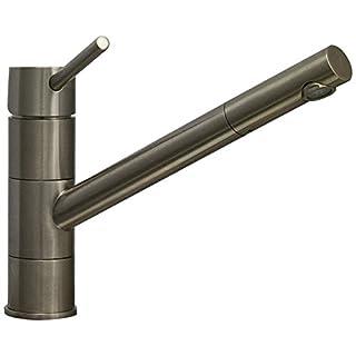 Astini Dallas Single Lever Brushed Steel Kitchen Sink Mixer Tap HK55