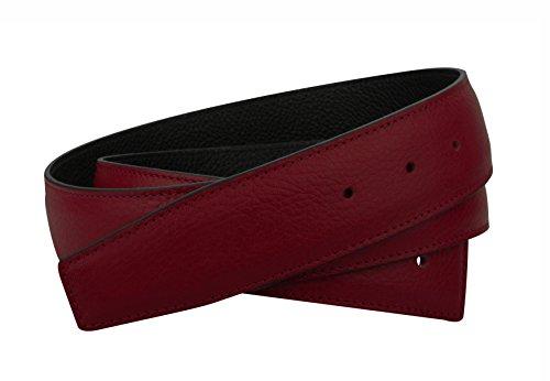 Bordo Wendegürtel in echt Leder für Herren & Damen 31mm Breiter Gürtel in Rot (105 cm) (Rote Hermes Gürtel)