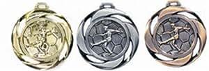 medal football silber
