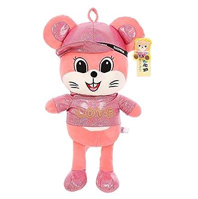 WHKJ Juguete de Peluche Creativo muñeca de ratoncito Colorido muñeca de Mascota Suave muñeca de Comodidad Creativa Regalo de cumpleaños de San Valentín 40 cm de WHKJ