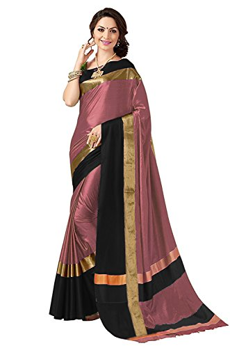 Best Collection Art Silk Saree (Peach, Free Size)