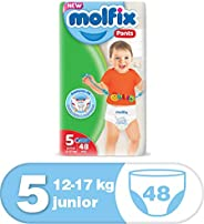 Molfix Anti Leakage Comfortable Junior Baby Diaper Pants, 12-17 kg, 48 Count