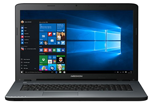 MEDION AKOYA P7645 43,9cm (17,3 Zoll Full HD Display) Notebook (Intel Core i7 7500U, 8GB RAM, 1,5TB HDD, 128GB SSD SSD, NVIDIA GeForce, Win 10) silber