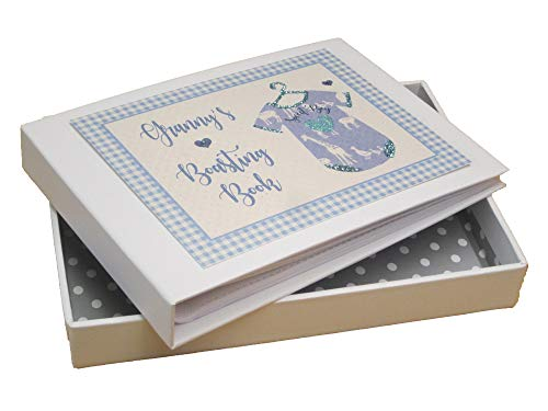 White Cotton Cards BV1T Fotoalbum Granny's Boasting Book, blaue Weste Blue Hardback