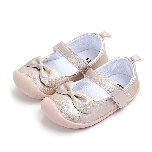 LACOFIA Bailarinas bebé niña Zapatos Antideslizantes Primeros Pasos para bebé niñas con Suela Gold...