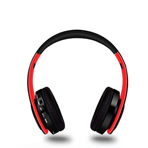 Preisvergleich Produktbild CWW Drahtlose Bluetooth-Karte Bewegung Falten Kopf-Tragen Bluetooth-Computer-Headset,Red