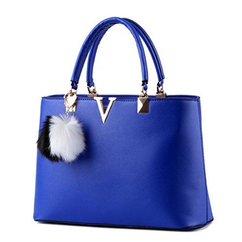 Sacchetto trasversale della traversa della borsa del cuoio del faux delle signore calde delle donne blu reale