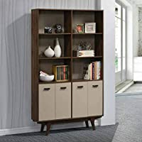 Maison Concept Retronic Cabinet, Brown and Grey - H 2050 x W 300 x D 1200 mm