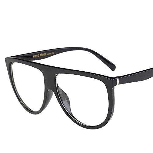 LCLrute 2018 Mode Unregelmäßige Form Sonnenbrille Mode Unisex Vintage Shaded Objektiv dünne Brille Mode Aviator Spiegel Objektiv Sonnenbrille (E) (Aviator-halskette)