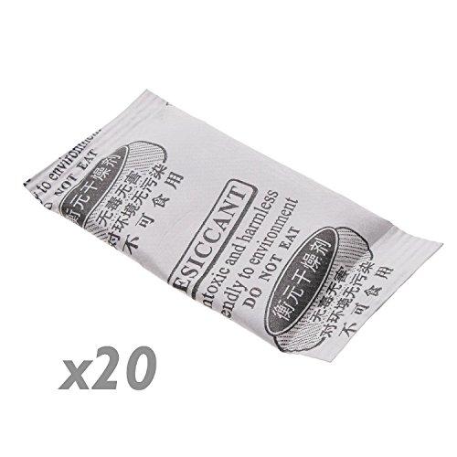 Cablematic - Sac déshumidificateur déshydratant de gel de silice silica 25x50mm 1g 20 pack