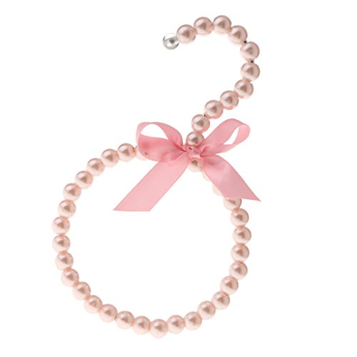 Gazechimp Perlen Gürtelbügel Krawattenring Tuchhalter Schalring aus Kunststoff und Metall - Rosa (Krawatte Verschönert)
