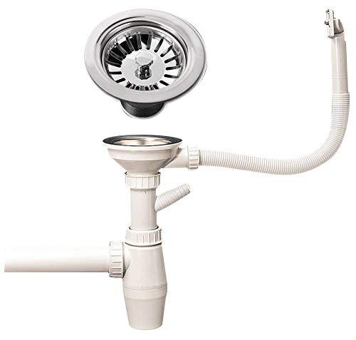 Sifon Ablaufgarnitur Spülenablauf Spülen Siebkorbventil Siphon Geruchsverschluss / ablauf spüle