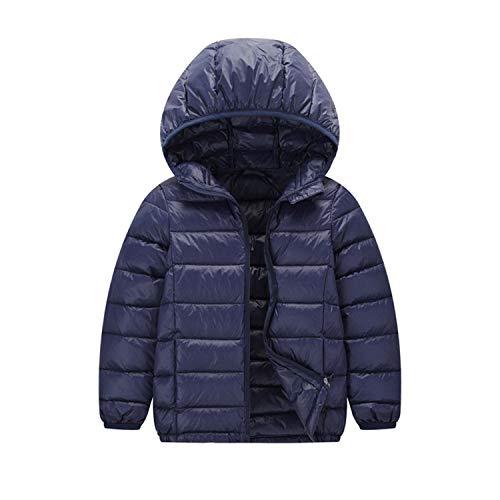 Kinder Junge Mädchen Ultraleichte Daunenjacke Mit Kapuze Herbst Winter Warme Jacket Steppjacke Daunenmantel
