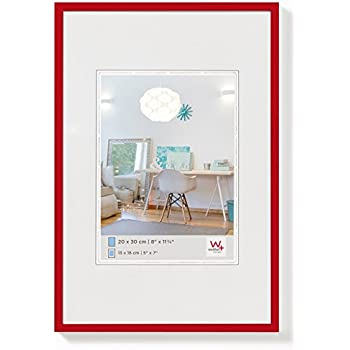 Walther KV045R New Lifestyle Cadre photo en plastique 30 x 45 cm Rouge