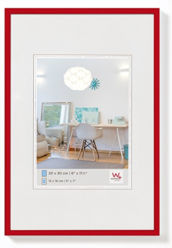 walther design KV318R New Lifestyle Kunststoffrahmen, 13 x 18 cm, rot