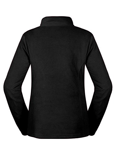 aparso Damen Fleecejacke Fleece Pullover Fleeceshirt atmungsaktiv warm Schwarz