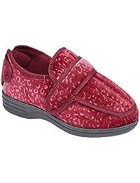 618b06fa33ff Shoe Tree Ladies Wide Fit Diabetic Orthopedic Memory Foam Multi Fit  Washable Slippers Size UK 3