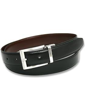 Ashford Ridge 30mm recubierto Reversible cinturón de cuero (Negro/marrón o negro/azul marino - tamaños 80cm -...